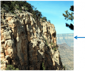 Exposure of the Permian Coconino Sandstone near the south rim of the Grand Canyon